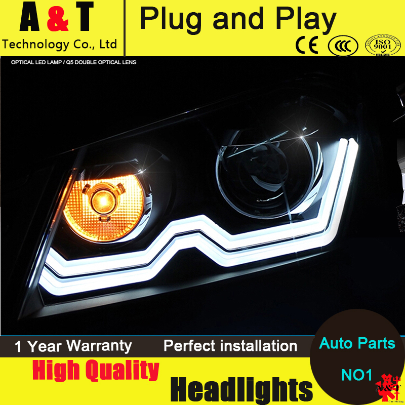 Car Styling Head Lamp for VW Passat B7 led headlight assembly 2011-2014 Europe Version Passat drl H7 with hid kit 2pcs. набор автомобильных экранов trokot для vw passat b7 2010 2014 на передние двери tr0408 01