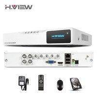 H View 4CH 720P AHD Security DVR Network HD NVR VGA HDMI Output Record 1MP IPCAM
