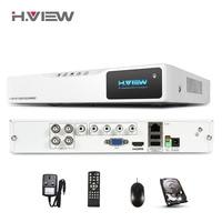H. вид 4CH 720 P AHD безопасности DVR для видеонаблюдения Системы Выход запись 1MP IP Cam Рекордеры для видеонаблюдения с 1 ТБ жесткий диск