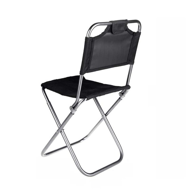Folding Sports Chair Brown Leather Dining Outdoor Camping Ultralight Portable Stool Camp Leisure Small Bench For Painting Fishing