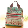 Portable Waterproof Canvas Tote Lunch Bag Folding Lunch Box Bag Thermal Insulation Bag Free Shipping