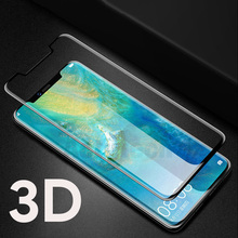 3D Full Cover Purple Light Tempered Glass for Huawei Mate 20 X Pro Screen Protector Curved
