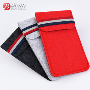 """Image 1 - For Apple iphone 6 6s 7 8 4.7""""Ultra thin Handmade Wool Felt phone Sleeve Cover For iphone 6 6s 7 8 plus 5.5"""" Bumper Phone Bag"""