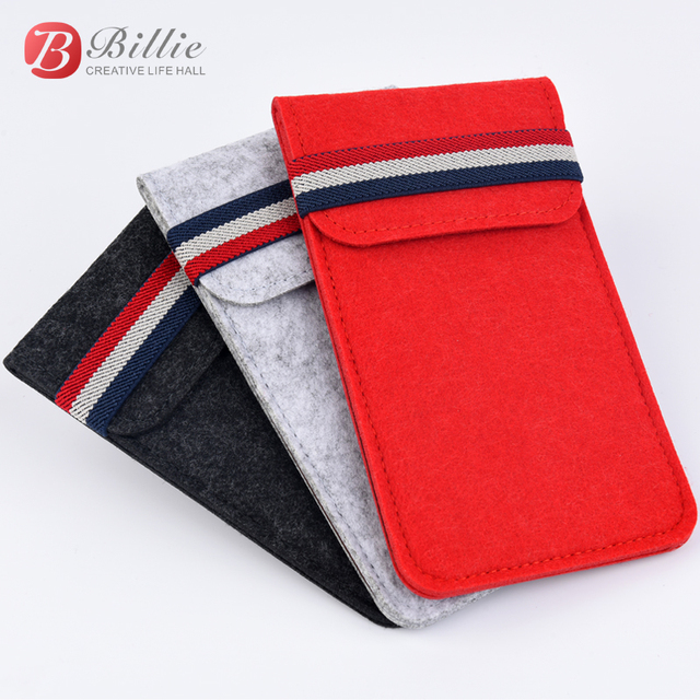 """For Apple iphone 6 6s 7 8 4.7""""Ultra thin Handmade Wool Felt phone Sleeve Cover For iphone 6 6s 7 8 plus 5.5"""" Bumper Phone Bag"""