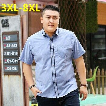 2018 new Plus size 9XL 8XL 7XL 6XL 5XL Fashion Mens summer brand Cotton dragon ball Short sleeves Leisure lapel camisa masculina