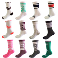 2 Pairs/Lot Women's Socks Harajuku Colorful  Cotton Pink Short Socks for Girl