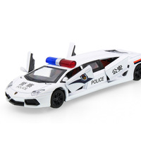 2017 Hot sell 1:32 Police Limousine Car Diecast Alloy Metal Luxury Car Model Collection Model Pull Back Toys Car Gift For Boy