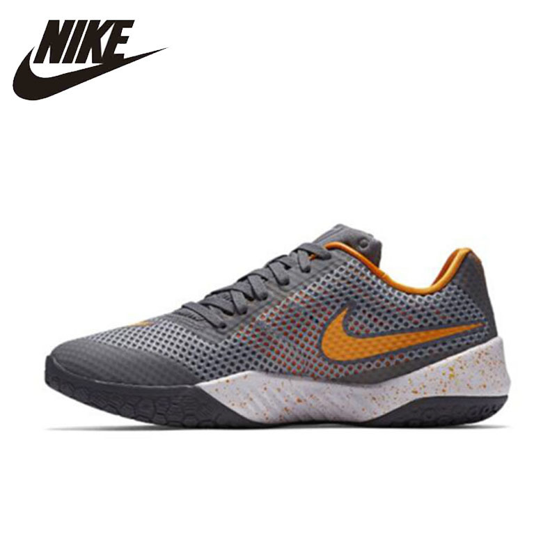 NIKE Original 2016 New Arrival HYPERLIVE EP Mens Basketball Shoes Breathable Professional Sneakers For Men#820284-011 nike original new arrival mens kaishi 2 0 running shoes breathable quick dry lightweight sneakers for men shoes 833411 876875