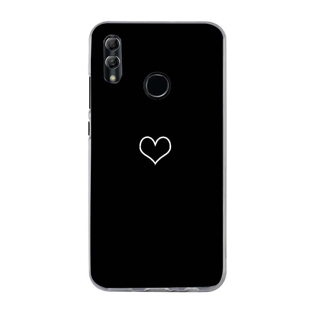 Bao Da Dành Cho Huawei P Thông Minh 2019 Ốp Lưng Cao Cấp Trái Tim In Ốp Lưng Cho Huawei P20 P10 Lite Honor 9 10 Lite y5 2018 Ốp Điện Thoại