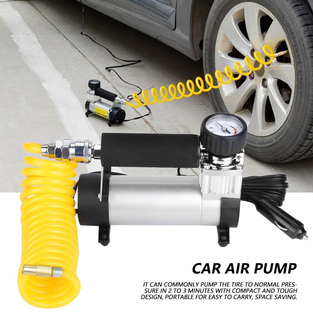 Auto voiture gonfleur de pneus 100PSI voiture pompe à Air 35 L/MIN pompes 100 W compresseur d'air auto Clip adaptateur allume-cigare DC 12 V