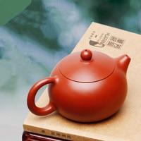 Yixing teapot small Xi Shi pot famous pure handmade ore Dahongpao teapot set Zisha teapot tea set