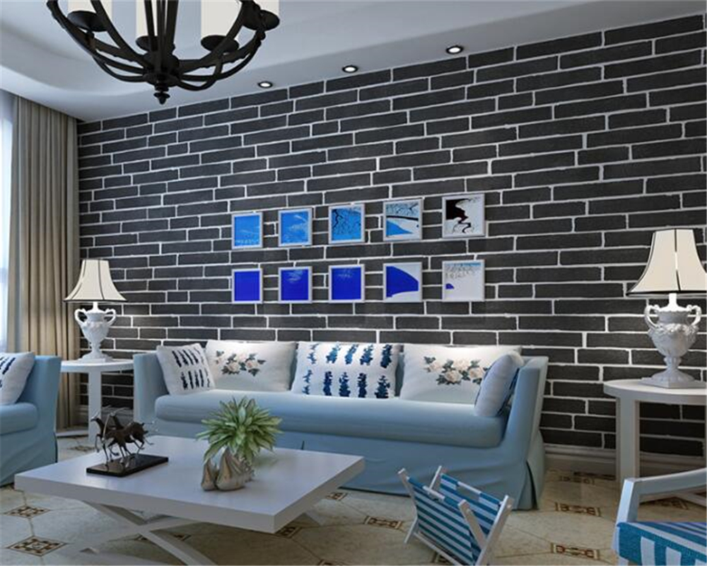 beibehang Fashion simple white brick wall paper bedroom living room study room clothing store beauty salon hotel 3d wallpaper beibehang roof black white square checkered 3d wall paper salon shop clothing store restaurant checkout ktv background wallpaper