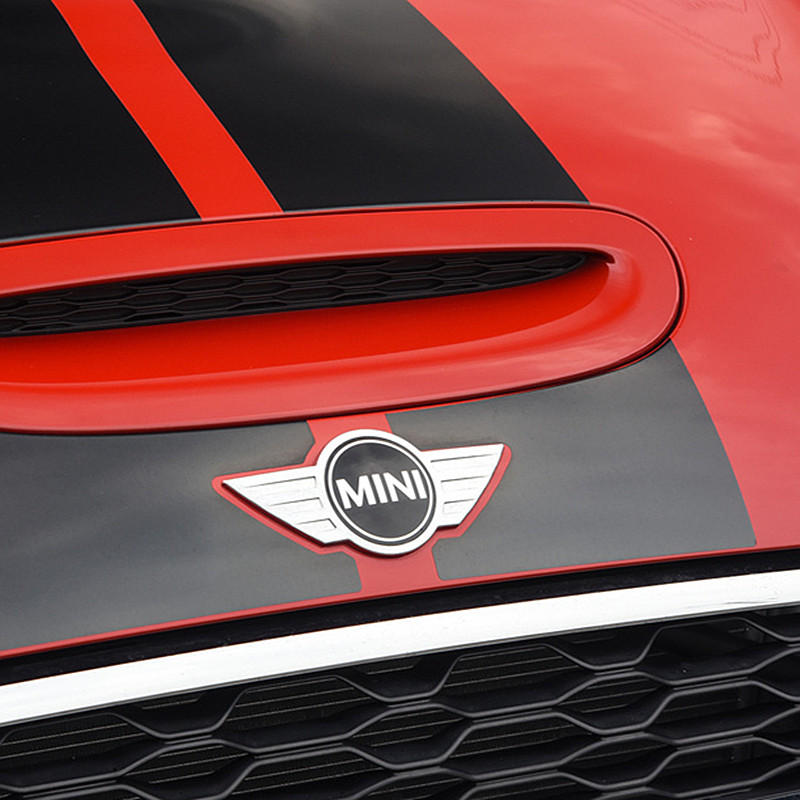 Image 5 - metal 3d MINI Car Badge Emblem logo Stickers For Mini Cooper CABRIO WORKS S Front head cover Rear head box Badge Decals Stickers-in Car Stickers from Automobiles & Motorcycles