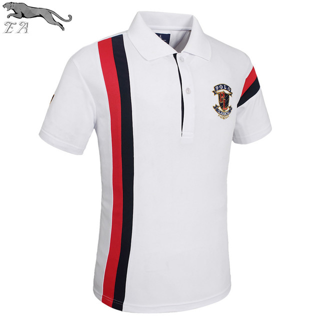 EA Striped Polo Shirt Hot Sale Fashion Men 2017 Summer Short Sleeve Turn-down Collar Polos Hombre Men's Casual Brand POLO homme