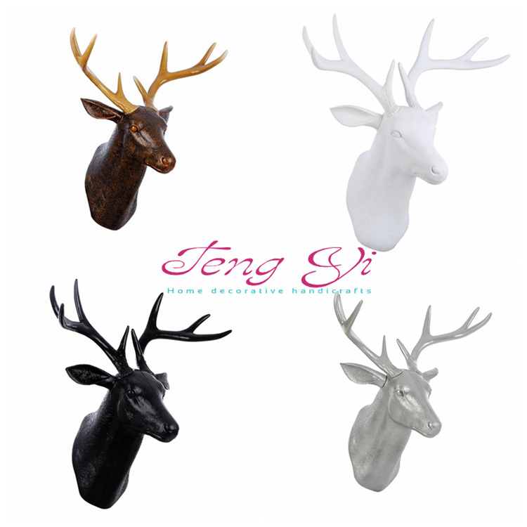 3D DIY creative decorations Christmas decorations Home Furnishing wall 6 deer reindeer moose elk color decorative wall art