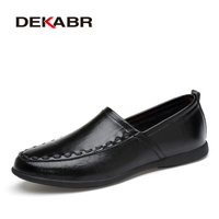DEKABR Spring Summer Men Shoes Breathable Casual Mens Shoes Fashio Hollow Out Slip On Loafers Zapatillas