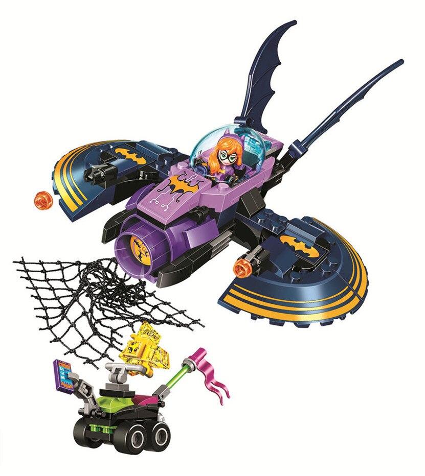 BELA DC Super Hero Filles Batgirl Batjet Chase Building Blocks Classique Pour Fille Amis Enfants Modèle Jouets Marvel Compatible Legoe