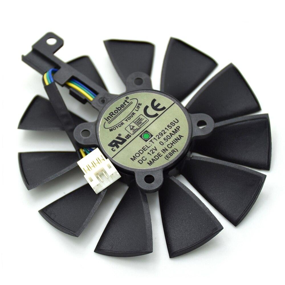T129215SU 87mm 4Pin ventilador para ASUS R9 390 390X RX580 GTX 980Ti 960g 970 de 1060 GTX1070 1080TI tarjeta de gráficos de los ventiladores de refrigeración nueva