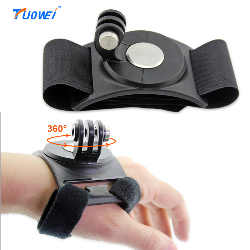 TuoWei For Gopro Wrist Band Multifunction 360 Degree Rotate Wrist Bandage Arm Mount Hand Strap for Gopro Hero 4 3+ 3 2 SJ6/8000