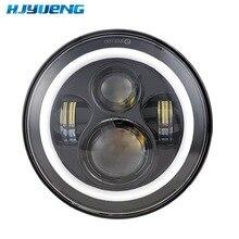 Hjyuing 7 pulgadas LED para 22 motocicletas luz principal de gira 7 Halo LED faro con ángulo de ojo