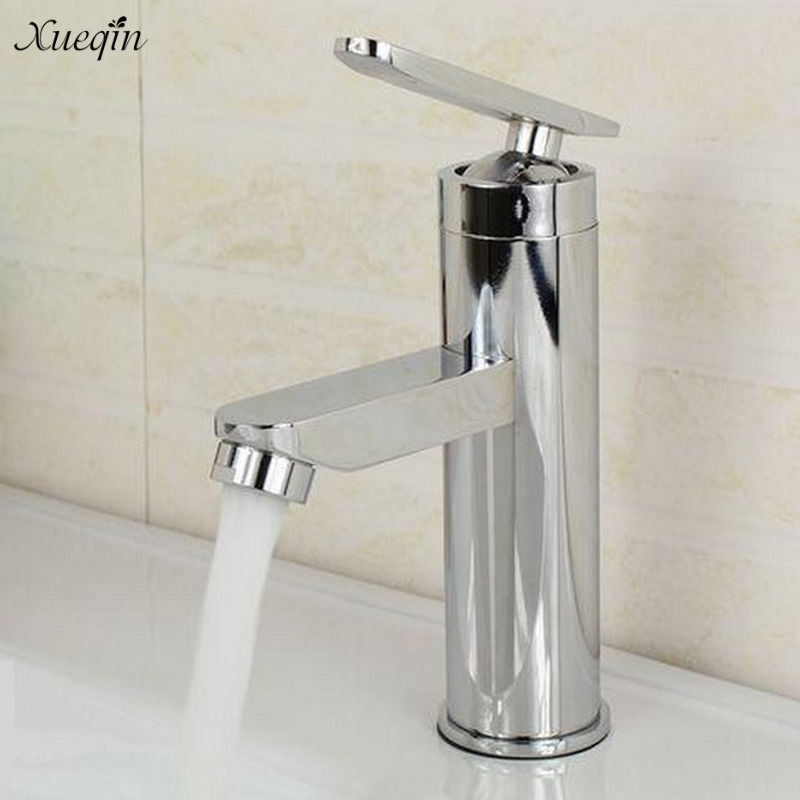 Xueqin Deck Mount Chrome Bathroom Basin Faucet Shower Bath Faucets Vanity Vessel Sinks Mixer Tap Cold And Hot Water Tap