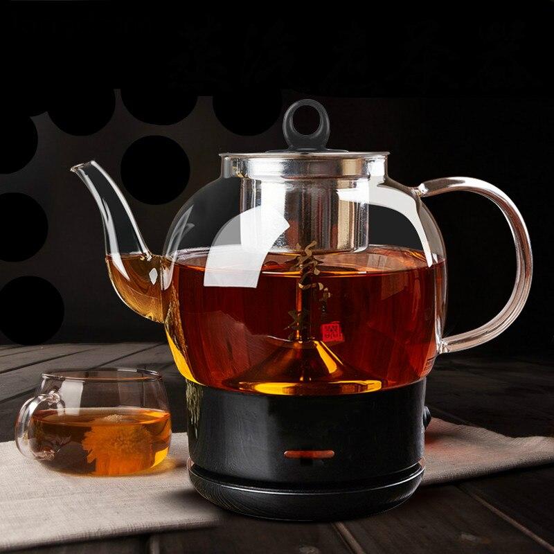 Ferver chá ware Preto totalmente automática vapor chaleira elétrica vidro faz preto Proteção Do Superaquecimento