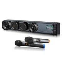 WENGE Outdoor 3D Sterep Car Karaoke Singing Bluetooth Soundbar 40W Large Power Speaker Dual Wireless Microphones TF Support