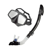 Dual window design diving mask gopro glass professional snorkels goggles dry breathing tube Diving Snorkel set MS 27532