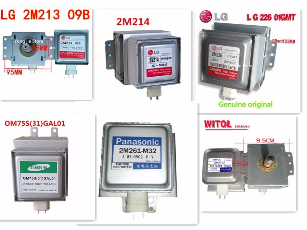 1pcs Original Product Magnetron 2m213 2M219J 2M214 2m261 m32 2M226 OM75S(31) for Panasonic Samsung LG Microwave Oven 2m214 2m219j 2m253j 2m214 lg magnetron microwave oven parts microwave oven magnetron