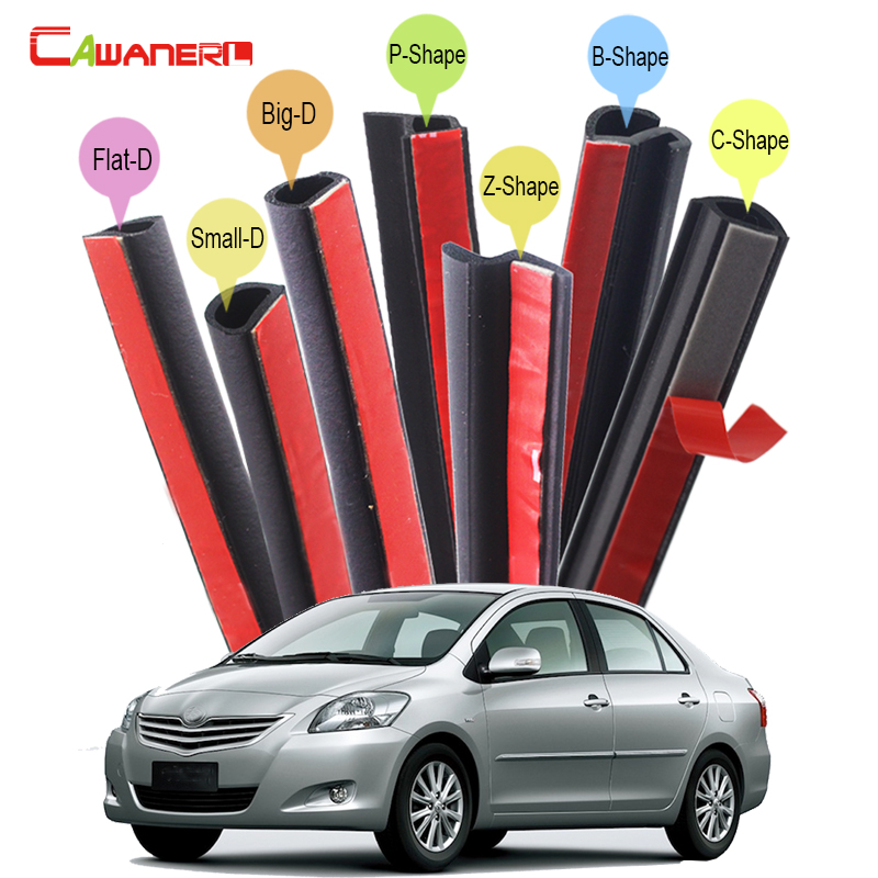 Cawanerl Car Sealing Seal Strip Kit Rubber Seal Edge Trim