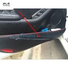 4 шт./лот для 2013-2017 Kia Cerato K3 Искусственная кожа автомобиля наклейки аксессуары защита Двери Kick крышка автомобильные аксессуары