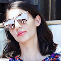 Europa Moda Simone Karen gafas de Sol Mujeres Flecha Espejo Luneta Gafas De Sol Gafas de Sol Femeninas