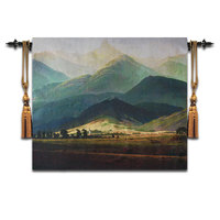 Belgian tapestry Digital jacquard tapestries TV Background Cloth Wall painting The Menhir Hills 117X136CM