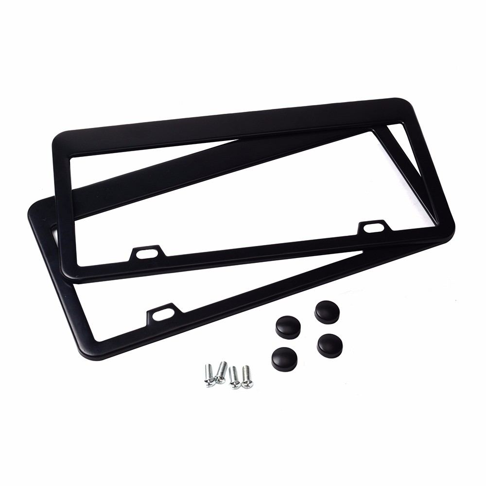 Image 4 - ESPEEDER 2pcs Stainless Steel License Plate Frame Tag Cover Holder For Auto Truck Vehicles Only For American Canada Car-in License Plate from Automobiles & Motorcycles