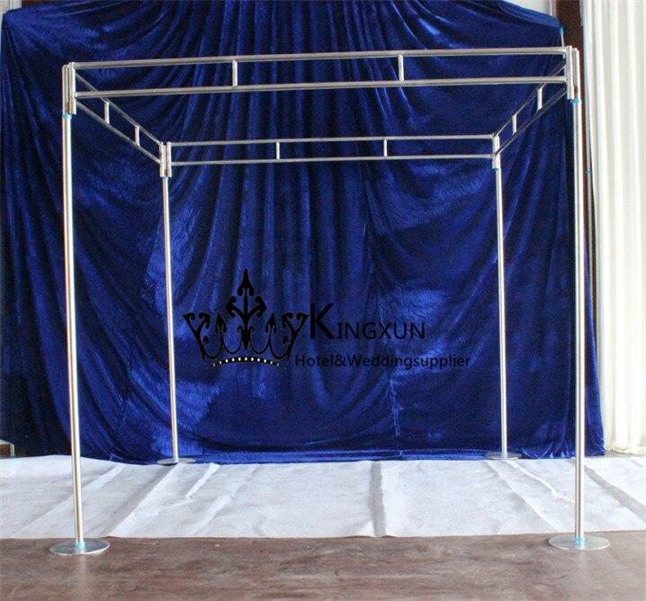 Di Forma quadrata Tenda Sullo Sfondo di Nozze Tubo di fumo Stand \ Quattro Angolo del Centro di Sfondo Asta Stent