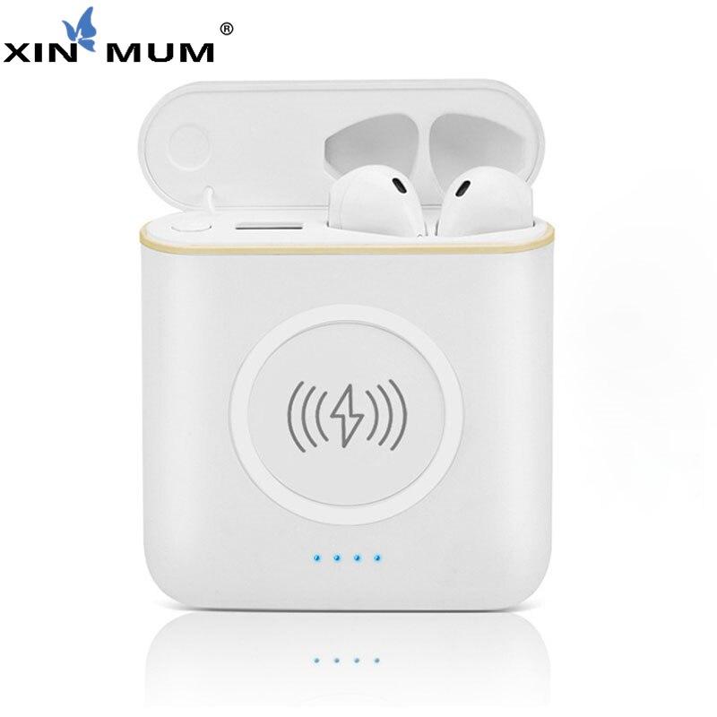 XIN MUM 5200 mah Wireless Accumulatori e caricabatterie di riserva TWS 3 in 1 Stereo Bluetooth Cuffia del Trasduttore Auricolare di Ricarica Scatola Caricatore Del Telefono Batteria - 6