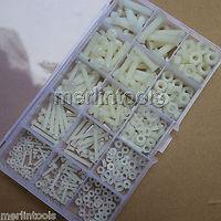 420Pcs Nylon Plastis Screw Nut Washer Assortment Kit M2 M2 5 M3 M4 M5 M6