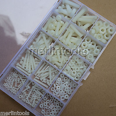 420Pcs Nylon Plastis Screw Nut Washer Assortment Kit M2 M2.5 M3 M4 M5 M6 брюки джинсовые pinetti брюки джинсовые