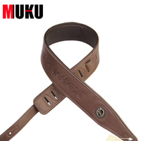 Leather Characteristic Brown Straps / Bass Guitar Strap with Ancient and Mysterious Chinese
