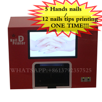 Free Shipping Screen Nail Machine Digital Nail Art Printer 3500 Designs Inside And Support Images Uploading
