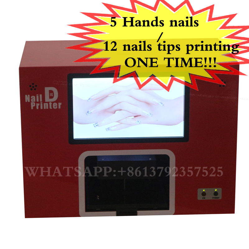 Directly Printing Machine Factory Supply Best Quality Selling Digital Nail Printer Automatic Five Nails Art