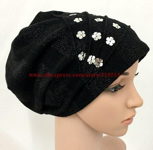 Baru 2017 Musim Dingin kapas rajutan topi sorban muslim islamic topi jilbab  islamic di Pakaian Islamic ee87d6555c