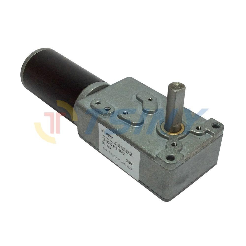 JSX1622-370 DC 24V 3500RPM 2r//min Tank//robot model worm gear and worm gear motor
