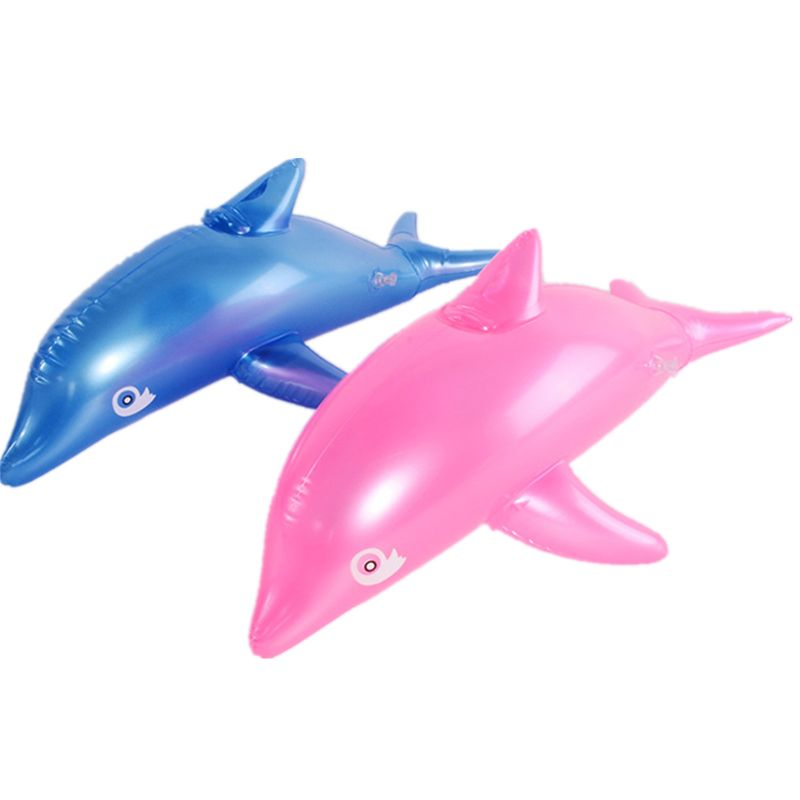 Inflatable Dolphins Bath Beach Pool Toy Kids Baby Toy