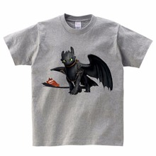 Pocket Toothless T-shirt Cute Tops How To Train Your Dragon Cartoon TShirt Summer Send Children birthday gift Unisex MJ