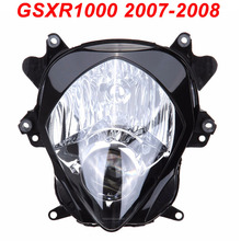 цена на For 07-08 Suzuki GSXR1000 GSXR 1000 Motorcycle Front Headlight Head Light Lamp Headlamp CLEAR 2007 2008