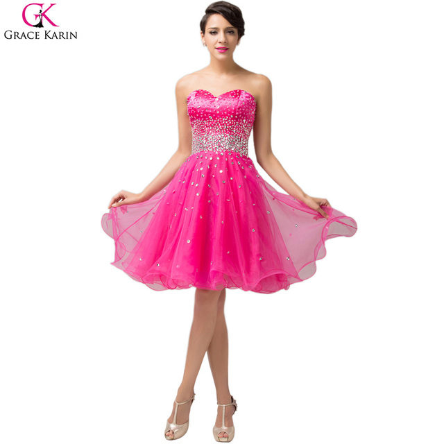 Aliexpress.com : Buy Grace Karin Short Evening Dresses Vestidos ...