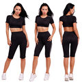 2017 Tracksuit Women Track Suit Women Sweat Suits 2 Two Piece Crop Top and Pants Set Sportswear for Women Suit Tracksuit