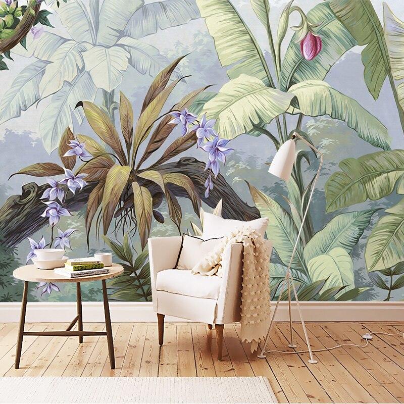 Europäischen Stil Pastoralen Regen Wald 3D Wandbild Tapete Wohnzimmer Schlafzimmer  Galerie Restaurant Hintergrund Wand Papiere Für
