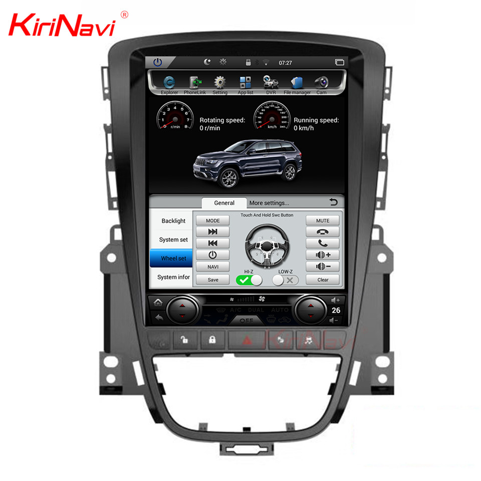 KiriNavi Vertical Écran Tesla Style Android 7.1 10.4 pouce Autoradio Pour Opel Astra J Voiture Dvd Gps de Navigation Multimédia lecteur